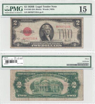 1928-B. $2. F-1503. PMG. Ch F-15. Legal Tender..