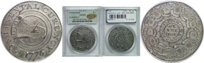 1776. Continental Dollar. PCGS. MS-60.