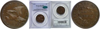 1855. Cent. PCGS. PR-64. BN. J-168.