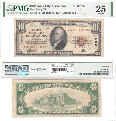 1929. $10. PMG. VF-25. OK. Oklahoma City. Charter
