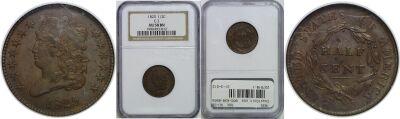 1825. NGC. AU-58.