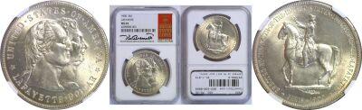1900. NGC. MS-65. Lafayette Dollar.