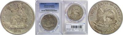 1875-CC. PCGS. Genuine.
