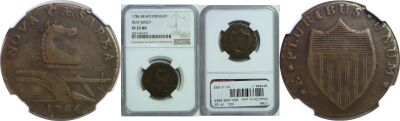 1786. New Jersey. NGC. VF-25.