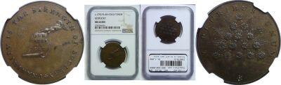 (1792-94). Kentucky Token. NGC. MS-63. BN.