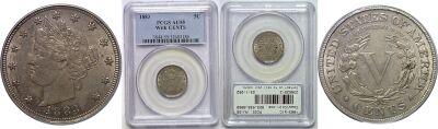 1883-W/C. PCGS. AU-55.