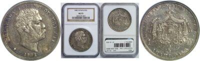 1883. $1. NGC. AU-55.