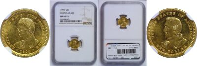 1904. NGC. MS-62. PL. Lewis and Clark $1.