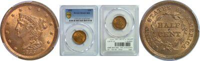 1855. PCGS. MS-65+. RD.