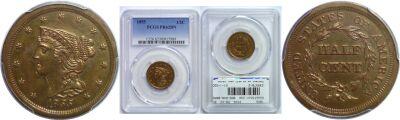 1855. PCGS. PR-62. BN.