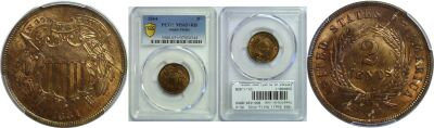 1864 Small Motto. PCGS. MS-65+. RB.