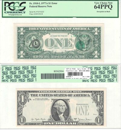 1977-A. $1. PCGS. Very Ch-64. PPQ. Federal Reserve