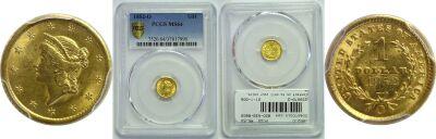 1852-O. PCGS. MS-64.