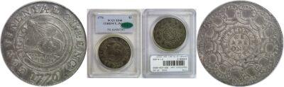 1776. Continental Dollar. PCGS. XF-40.