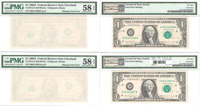 1988-A. $1. PMG. Ch AU-58. EPQ. Federal Reserve No