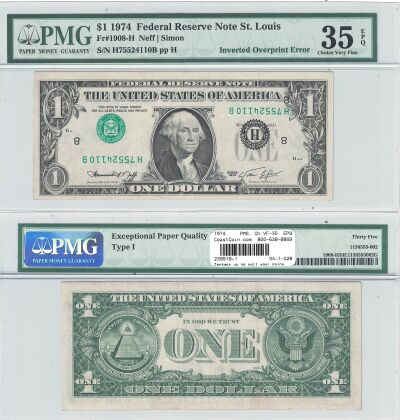 1974. $1. PMG. Ch VF-35. EPQ. Federal Reserve Note