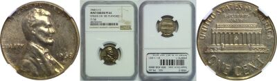 1968-S. NGC. PR-64. Cent. Wrong Planchet.