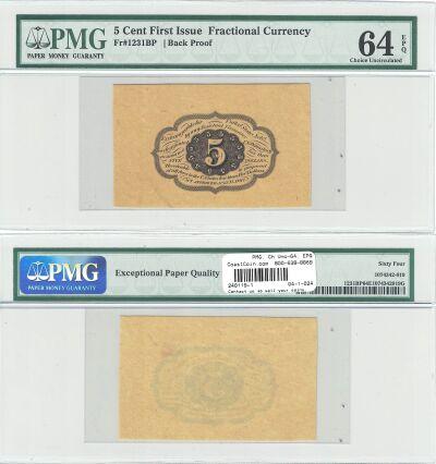 5c. 1st Issue. PMG. Gem-66. EPQ. F-1231SP.