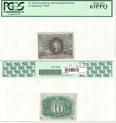 10c. 2nd Issue. PCGS. Ch New-63. PPQ. F-1245.