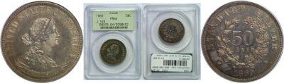 1869. Half Dollar. PCGS. PR-64. J-749.