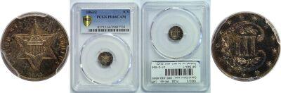 1863/2. PCGS. PR-66. CAM.