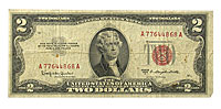 1953. $2. FINE. Legal Tender Note.